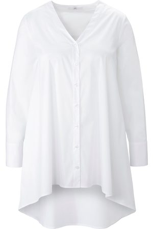 Emilia Lay Damen Blusen - Long-Bluse weiss
