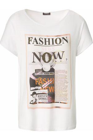 Mybc Damen Shirts - Rundhals-Shirt überschnittener Schulter mehrfarbig