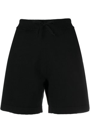 P.a.r.o.s.h. Ribbed waistband cotton shorts