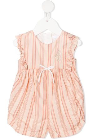 Chloé Kids Striped sleeveless jumpsuit