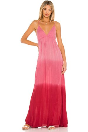TIARE HAWAII Gracie Maxi Dress in - Pink,White. Size M/L (also in S/M).