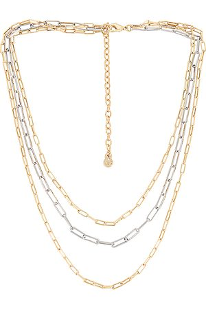 Baublebar Aria Necklace Set in - Metallic Gold. Size all.
