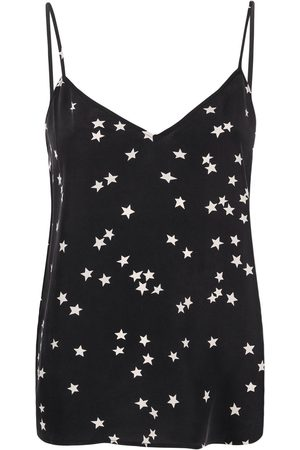 Equipment Star-print silk cami top