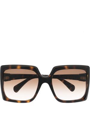 Gucci Square-frame logo plaque sunglasses