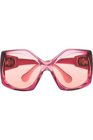 Gucci Angular-frame oversized sunglasses