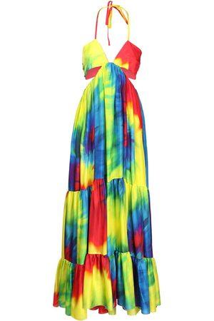 ALEXANDRE VAUTHIER Langes Kleid Aus Seidencharmeuse