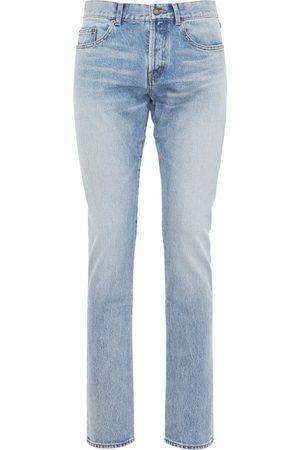 Saint Laurent 17cm Enge Jeans Aus Baumwolldenim