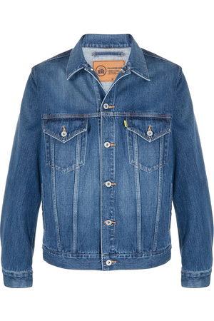 DOUBLET Herren Jeansjacken - Rear graphic print denim jacket