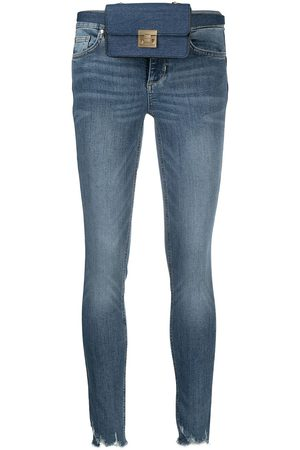 Liu Jo Damen High Waisted - Mid-rise skinny raw-cut jeans