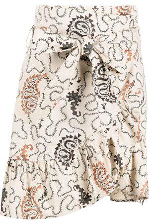 Isabel Marant Paisley print asymmetric skirt