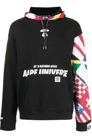 AAPE BY A BATHING APE Herren Sweatshirts - Oversized patchwork print hoodie