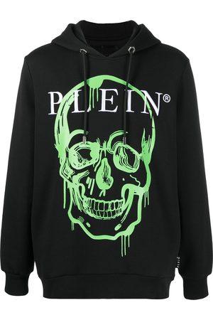 Philipp Plein Herren Sweatshirts - Crystal-embellished skull print hoodie