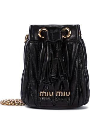 Miu Miu Bucket-Bag Mini aus Leder