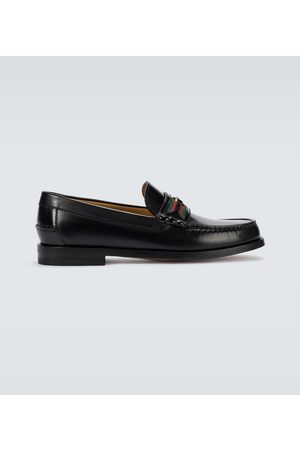 Gucci Herren Halbschuhe - Loafers GG aus Leder