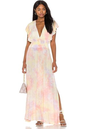 TIARE HAWAII Dahlia Maxi Dress in - Lavender,Pink. Size M/L (also in S/M).