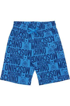 Moschino Shorts Aus Baumwollfleece Mit Druck