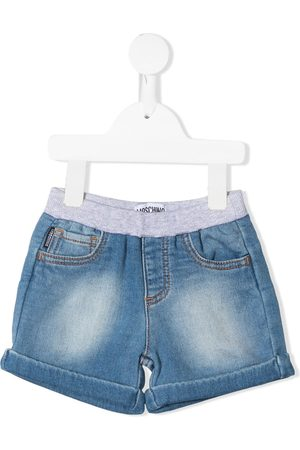 Moschino Shorts - Teddy bear-patch denim shorts