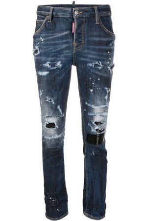 Dsquared2 Damen Skinny - Stud-embellished ripped jeans