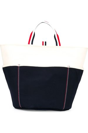 Thom Browne Herren Shopper - Large double-face canvas tote bag