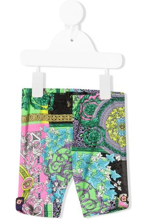 VERSACE Baby Leggings & Treggings - Barocco patchwork print leggings