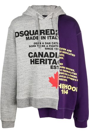 Dsquared2 Asymmetric two-tone hoodie