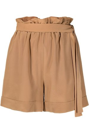 FEDERICA TOSI Damen Shorts - High waisted belted shorts