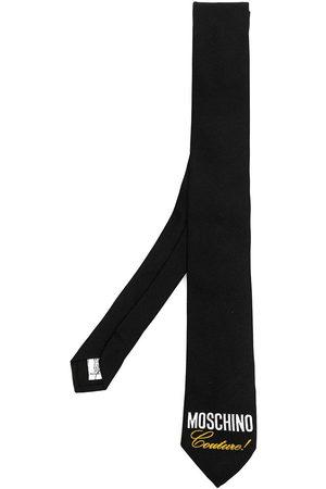 Moschino Herren Krawatten - Couture! logo-print silk tie