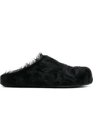 Marni Calf hair mules