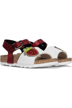 MONNALISA Sandalen aus Leder mit Glitter
