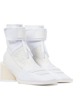 MM6 Maison Margiela Damen Stiefeletten - Ankle Boots Mix Media aus Leder
