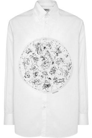 VALENTINO Hemd Aus Baumwollpopeline Mit Druck