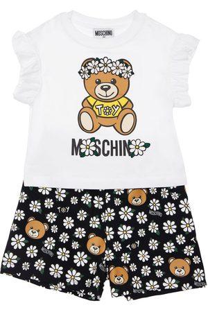 Moschino Damen Shorts - T-shirt Und Shorts Aus Jersey Mit Druck