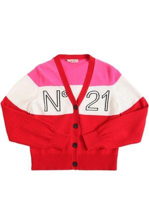 Nº21 Strickcardigan Aus Baumwolle Mit Logo