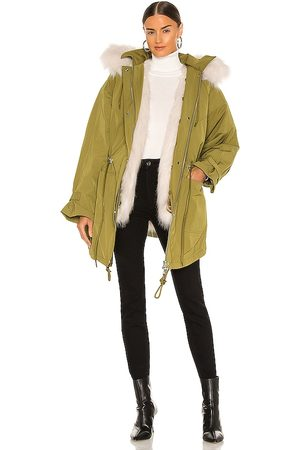 EAVES Damen Parkas - Morganna Parka in - Army. Size L (also in M, S, XL, XS, XXS).