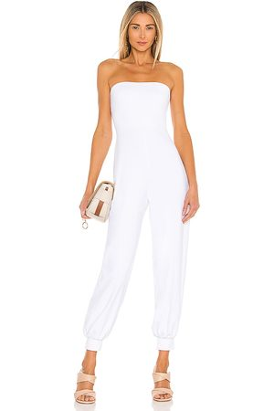Susana Monaco Strapless Cuffed Ankle Jumpsuit in - White. Size L (also in M, S, XS).