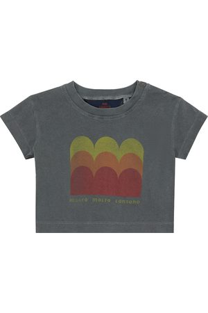 The Animals Observatory Baby T-Shirt Rooster aus Baumwolle