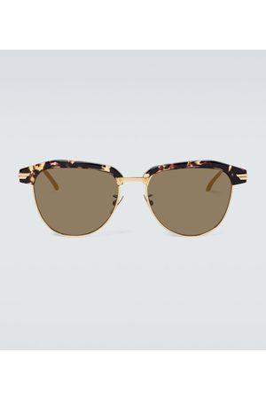 Bottega Veneta Herren Sonnenbrillen - Eckige Sonnenbrille aus Metall