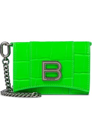 Balenciaga Damen Geldbörsen & Etuis - Clutch Hourglass Mini aus Leder