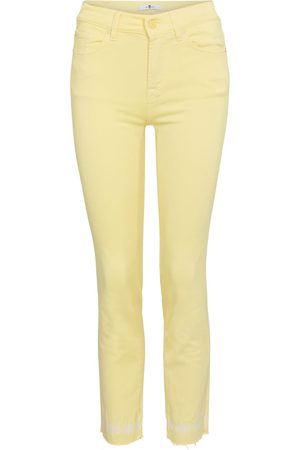 7 For All Mankind Damen High Waisted - Mid-Rise Skinny Jeans Roxanne