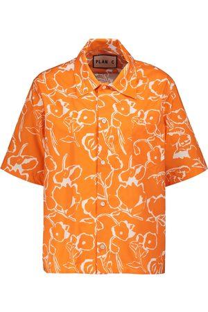 Plan C Damen Blusen - Bedrucktes Hemd aus Baumwolle
