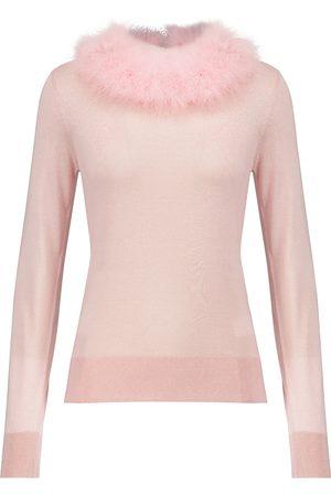 Dolce & Gabbana Pullover aus Seide mit Federn