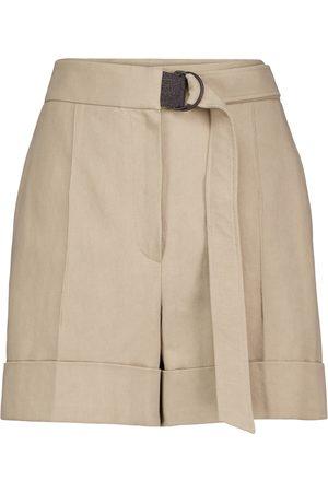 Brunello Cucinelli Shorts aus Baumwolle und Leinen