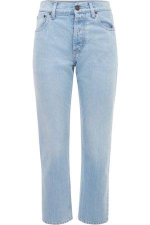 Saint Laurent Gerade Jeans Aus Baumwolldenim