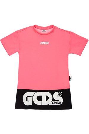 GCDS Kleid Aus Baumwollmischjersey