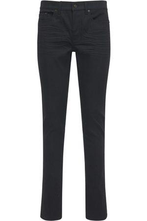 Saint Laurent 15cm Enge Jeans Aus Baumwolldenim