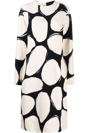 Marni Silk oval-print dress