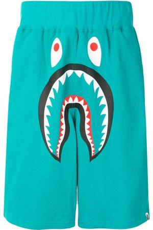 A Bathing Ape Herren Kurze Hosen - Shark wide track shorts