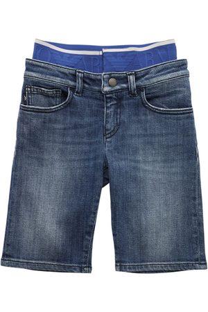 Emporio Armani Herren Shorts - Shorts Aus Stretch-baumwolldenim