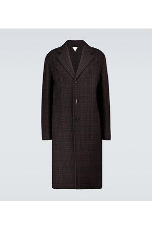 Bottega Veneta Karierter Mantel aus Wolle