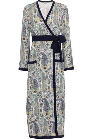 Etro Bedrucktes Wickelkleid aus Jersey
